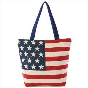 American flag tote